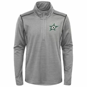 Outerstuff Dallas Stars NHL Boys Youth (8-20) 1/4 Zip Pullover Sweater, Grey