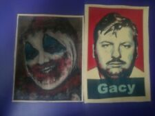 John Wayne Gacy Patch lot of 2 canvas patch seriel killer.cannibal