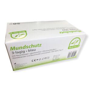50 Stk. Medizinischer Mundschutz Maske | Mund-Nasen-Schutz | EN14683 | Medi-Inn