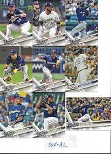 2017 Topps 1 Milwaukee Brewers Team Set Orlando Arcia Chris Carter Ryan Braun 11