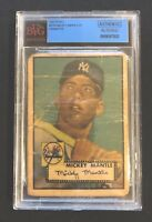1952 Topps Mickey Mantle Rookie Card #311.      BVG Authentic Altered!
