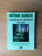 EDITIONS DANGLES CATALOGUE GENERAL ETE 1983 : naturopathie, spiritualit