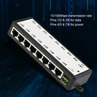 8 Channel POE Power Supply Module POE Injector Ethernet Adapter for IP Camera
