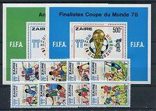 Zaire 558/65 Block 18/19 postfrisch / Fußball ............................1/3641