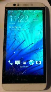 [BROKEN] HTC Desire 510 4GB White (Boost) Fast Ship Good Used Cracked Glass