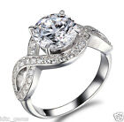 2.40 ct D/vvs1 Round Brilliant cut Solitaire Engagement Ring Real 14K white Gold