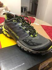 La Sportiva Men's 8.5 Bushido Trail Mountain Running Shoe Carbon APPL GR