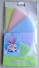 Pastel Tones Tulle Circles 9in - 24pcs - Party Favors, Candies, Wedding, Baby