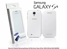 Genuine Original Samsung Galaxy S4 Flip Cover Case White 100% Official NEW BOXED