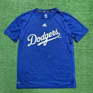 Adidas Youth Los Angeles Dodgers Blue Graphic T Shirt Climalite youth large