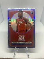 2019-20 Panini Chronicles Zion Williamson Hometown Heroes Prizm BLUE 49/99 RC SP