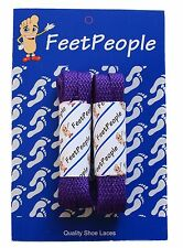 Feetpeople Flat Shoe Laces, 2 Pack (Lots of Colors and Sizes)