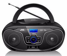 NEW JVC RD-N327 Bluetooth Portable Radio and CD Player W/USB AUX Port 100-240V