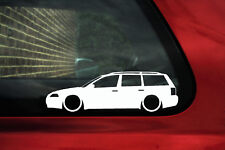 2X Lowered car Outline stickers - for Volkswagen VW Passat B5.5 (facelift) WAGON