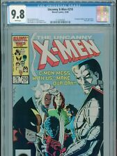1986 MARVEL UNCANNY X-MEN #210 1ST APPEARANCE MARAUDERS CGC 9.8 WHITE BOX9
