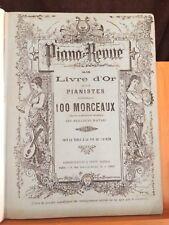 Piano revue livre d'or des pianistes recueil partitions relié ancien Duvernoy
