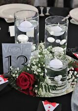 80 Elegant All White Pearls- Jumbo/Assorted Sizes Vase Fillers for Centerpieces