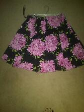 LADIES INC SKIRT PRETTY BOLD PINK AND GREEN PATTERN PLEATED SIZE 2 EXCELLENT