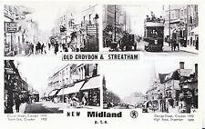 Surrey Postcard - Views of Old Croydon & Streatham - New Midland  U691