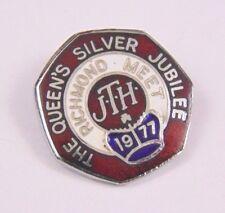 Rare 1977 - Richmond Cyclists Meet Enamel pin Badge - Queens Silver Jubilee