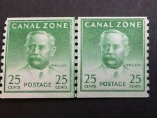 Us Canal Zone Scott 162 Lined Pair, Mint Nh Og