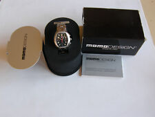 """MOMO DESIGN""""RACE MASTER EXTREME""""CHRONO-AUTOMATIC-STEEL-BOX AND WARRANTY-N. O. S."""