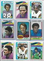 Minnesota Vikings Vintage Lot (30) Different w/ Rookies Foreman Tarkenton White