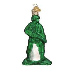 Old World Christmas Army Man Toy (44144)N Glass Ornament w/Owc Box