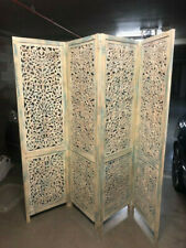 Carved heavy timber screen.shabby chic look .Price$150