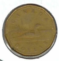 1987 Canada $1 Circulated Loonie Dollar Coin!
