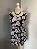 Women's Size 10 Dorothy Perkins Sleeveless Tunic Floral Bohemian Blouse Top