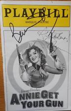 Cast Signed Annie Get Your Gun 1999 Playbill Bernadette Peters Tom Wopat +20More