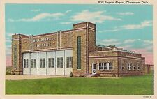 Will Rogers Airport in Claremore Ok Postcard