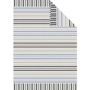 Large Blue Harper Stripes Blanket Throw