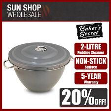 100% Genuine! Baker's Secret Non-stick Pudding Steamer 2 Litre! RRP $44.95!