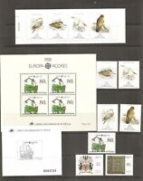 Portugal Azores SC # 370-370a, Europa.  371-374, 374a,375-476 Year Set 1998 MNH