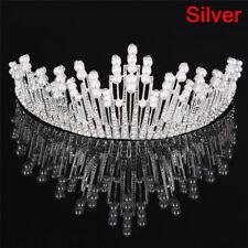 Pearl Crystal Tiara Rhinestone Hair Accessory Crown Wedding Bridal Headband BH