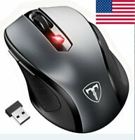 2.4GHz Mini Wireless Cordless Optical Mouse Mice USB Receiver for Pro Gamer