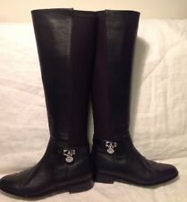 46981ab53afe New Sz. 6.5 Michael Kors Womens Hamilton Black Knee-High Boots