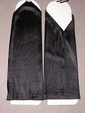 NEW Long BLACK Satin FINGERLESS Gloves ~One Size / Nylon / No Brand