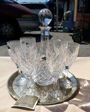 euc shannon crystal 8 pc dublin decanter u0026 goblet set godinger tray