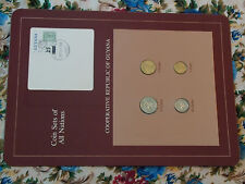 Coin Sets of All Nations Guyana w/card UNC 25, 10, 5 cents 1985 1 cent 1982