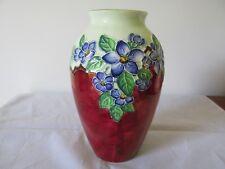 Vintage Maling Ware Blossom Roses Vase