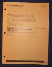 CAT CATERPILLAR 3306B GENERATOR OPERATION & MAINTENANCE MANUAL BOOK S/N 2AJ