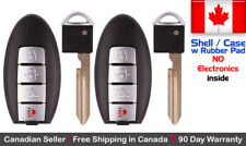 2x New Replacement Keyless Entry Key Fob Case For Nissan & Infiniti - Shell Case