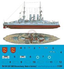 Peddinghaus 1/1250 SMS Braunschweig German Battleship Markings WWI 3297