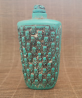Old Chinese Turquoise Hand Carved Buddhism statue Snuff Bottle