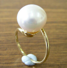 12.9mm!! AUST SOUTH SEA PEARL 100% UNTREATED +18ct SOLID YG RING +CERT AVAILABLE