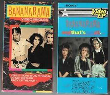 BANANARAMA And That's Not All 1984 & Video Singles 1986 2 Sony VHS w/dvdr copy