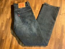 Levis 505 Men's jeans tag 30x30 act Sz (30x29) Regular Fit Straight Leg  blue
